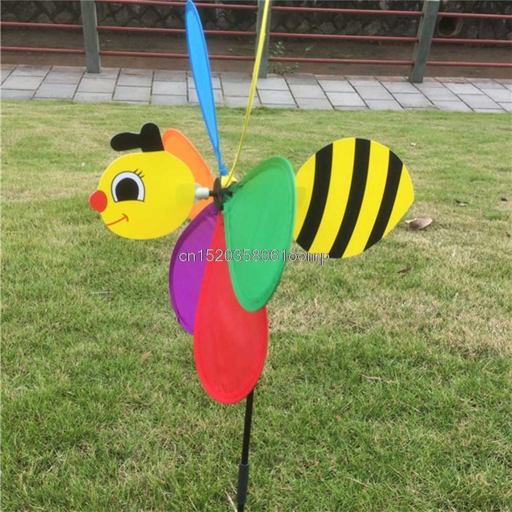 Colorful 3D Insect Large Animal Bee Ladybug Windmill Wind Spinner Whirligig Yard Garden Outdoor Classic Toys #K4UE# Drop Ship