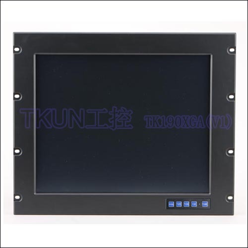 19 inch aluminum alloy panel rackmount industrial touch monitor medical equipment special displays of military aviation