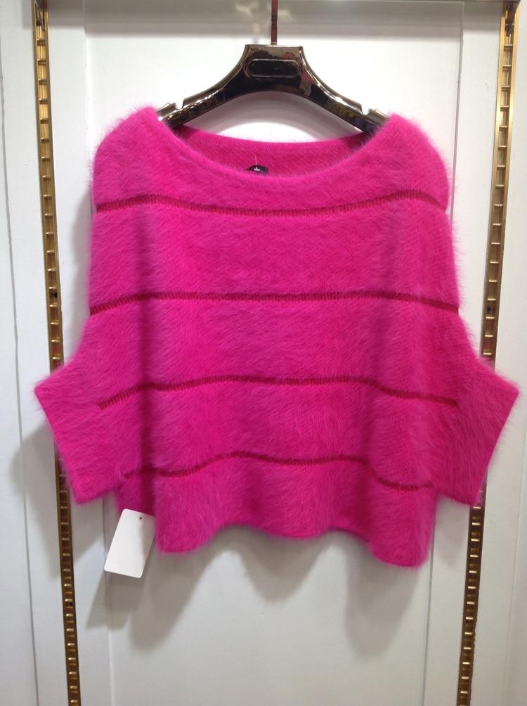 2019 새로운 진짜 자연 밍크 모피 풀오버 oneck batwing 짧은 코트 여성 패션 무료 배송 fp399-에서리얼 퍼부터 여성 의류 의  그룹 1