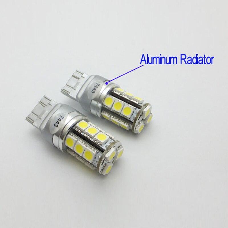 T20 7443 12V светодиодна двойна светлинна - Автомобилни светлини - Снимка 2