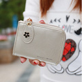 Zipper Ladies Wallets Short Card Holder Korean Style Women Wallet Solid Pattern Leather Women Purse Clutch Wallet High Quality