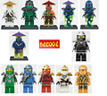 12 unids/lote lloyd cole jay kai zane chen mini bloques decool figuras set ninja go figure toy compatible legoinglys minifig