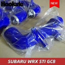 性能もシリコーンターボ入口吸気誘導パイプスバルインプレッサ GC8 EJ20 STI WRX MK5 〜 6 (1 個) ブルー
