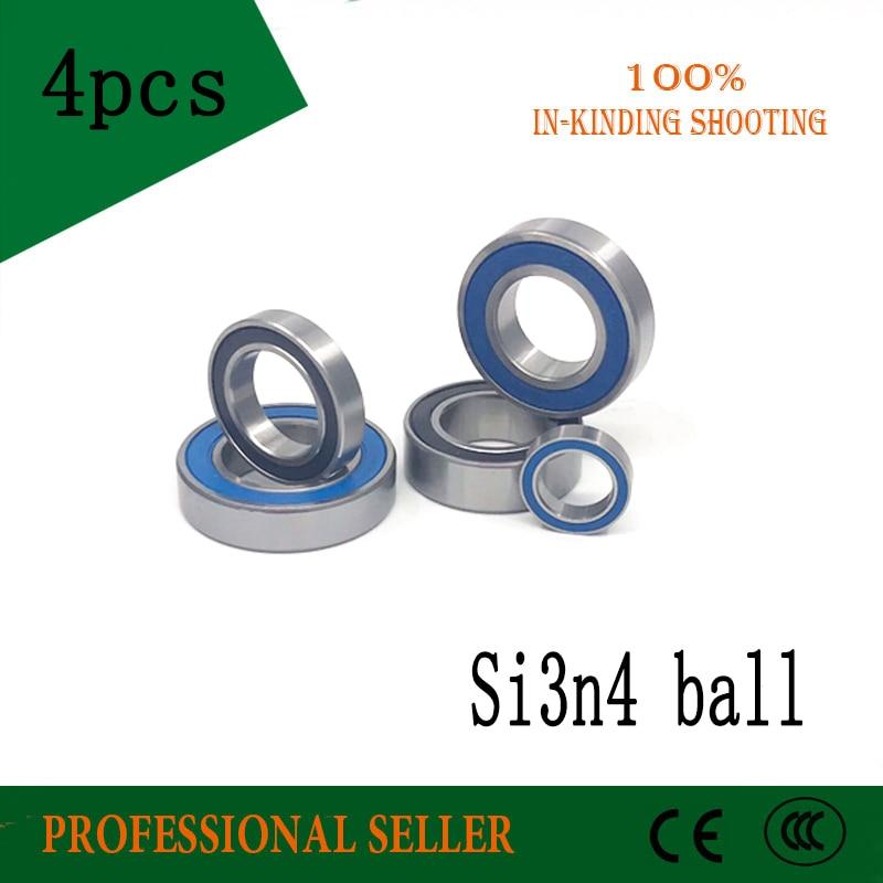 все цены на 4PCS 15267 15268 17287 MR2437 6805N 163110 173110 RS 2RS hybrid ceramic bearing si3n4 ball bottom bracket repair parts bearing онлайн