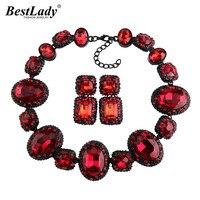 Ladyfirst 2016 Newest Geometric Luxury Statement Beads Crystal Gem Rhinestone Luxury Instagram Maxi Choker Collier Necklace