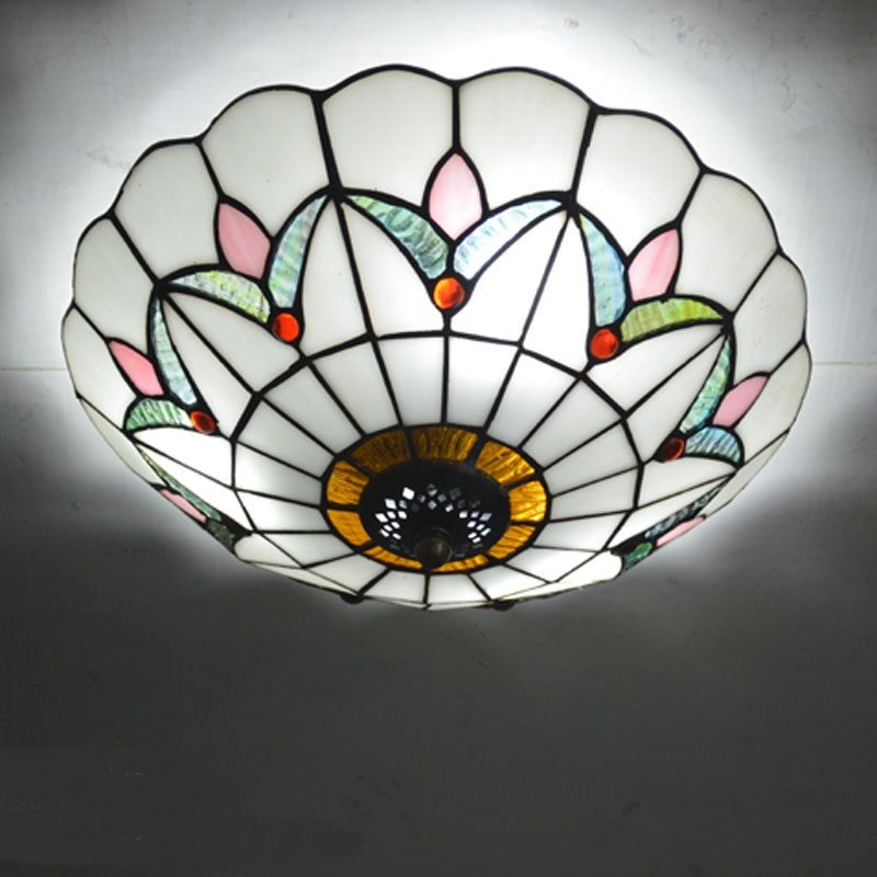 Tiffany round ceiling lamps Baroque ceiling decoration bedroom LED corridor balcony cloakroom ceiling lights yellow blue lamps loft style metal cage ceiling lights hotel corridor creative ceiling lamps restaurant aisle balcony kitchen for home lighting