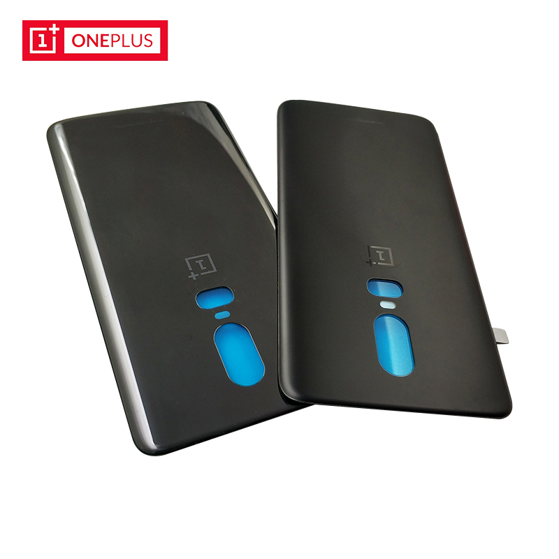 online retailer ac425 294ee Original OnePlus 6 Back Battery Cover Case OnePlus6 Glass Housing ...
