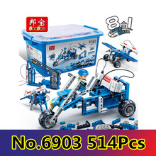 Building block set compatible with Application of electric energy 3D Construction Brick Educational Hobbies Toys for Kids