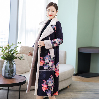 New 2019 Red Long Wool Coat Women Winter Coats Clothes Large Warm
