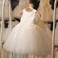 Retail & Wholesale Del Envío libre niñas niños Fiesta de La Princesa Vestido de Flores bordado Burbuja Corpiño vestido de Desgaste del día de Fiesta