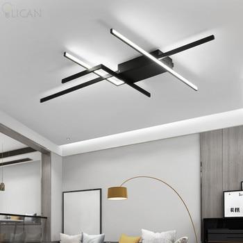 LICAN DIY Modern LED Ceiling Lights forLiving room Bedroom lustre de plafond moderne luminaire plafonnier Black LED Ceiling Lamp