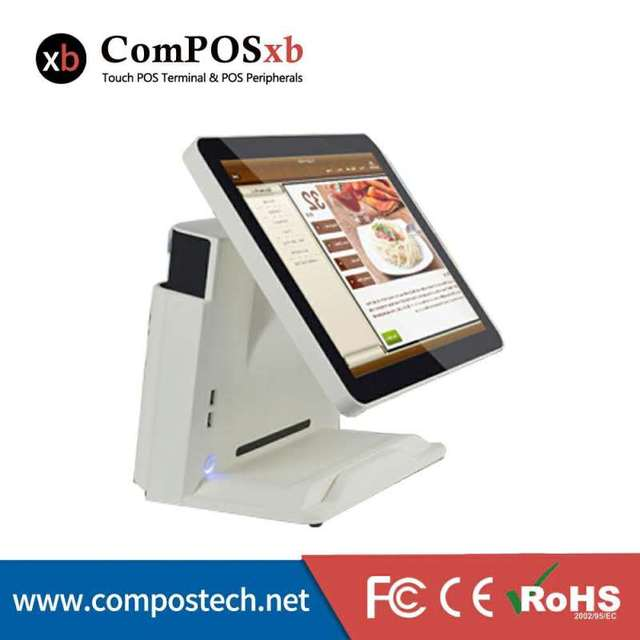 free shipping15inch Touch Screen pos terminal system cash register in pos systems with black /white color windows system