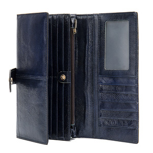 Image 2 - WETSAL 100% Genuine Leather Women Wallet Female Long Clutch Lady Walet Portomone Money Bag Coin Wallet Purse for Card/phone