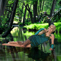 Beautiful Green Elf Costume Forest Godness Girls Cosplay Dress For Halloween Party