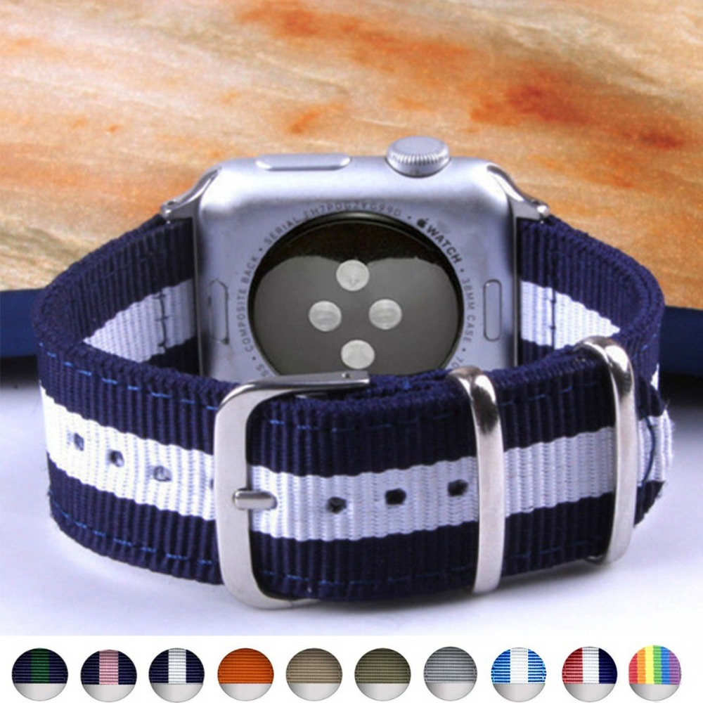 1pcs Hot Sale Nylon Strap for Apple Watch Band Series 3/2/1 Sport Bracelet Leather 42mm 38mm Strap for Iwatch Band цена и фото