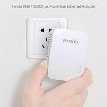 1pair Tenda PH3 1000Mbps Powerline Network Adapter AV1000 Ethernet PLC adapter KIT Gigabit Power line Adapter IPTV homeplug AV2