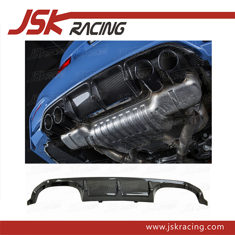 2014-2016 PERFOR STYLE CARBON FIBER REAR LIP REAR DIFFUSER FOR BMW 3 4 SERIES M3 F80 M4 F82 (JSKBW3S12048)