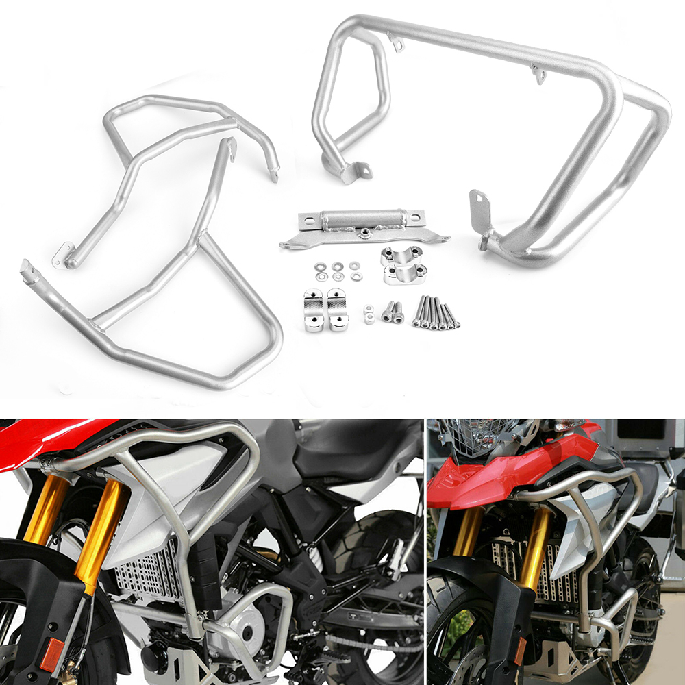 For BMW G310GS Engine Guard Bumpers <font><b>G</b></font> 310GS 2017 2018 Tank protector Upper Crash Bars Cover For BMW G310R G310 R <font><b>G</b></font> <font><b>310R</b></font> G310 GS image