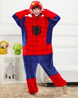 Marvel Spider Man Animal Pajamas Winter Warm Sleepwear Robe Cartoon Cosplay Pijamas Unisex Adults Flannel Onesies