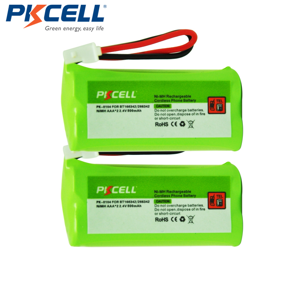 2x2.4 V AAA 800 mAh Ni-MH Bateria de 2.4 Volts Recarregável NiMh Telefone Sem Fio Bateria para BT166342/266342 JST-HE (PK-0104)