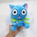 "[PCMOS] 2017 New Anime Fairy Tail Blue Happy Cat 18cm/7"" Cute Plush Toy Stuffed Doll Arcade Prizes Gift Collection 3200"