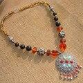 Tibet Nepal ethnic jewelry wholesale vintage necklace D-04