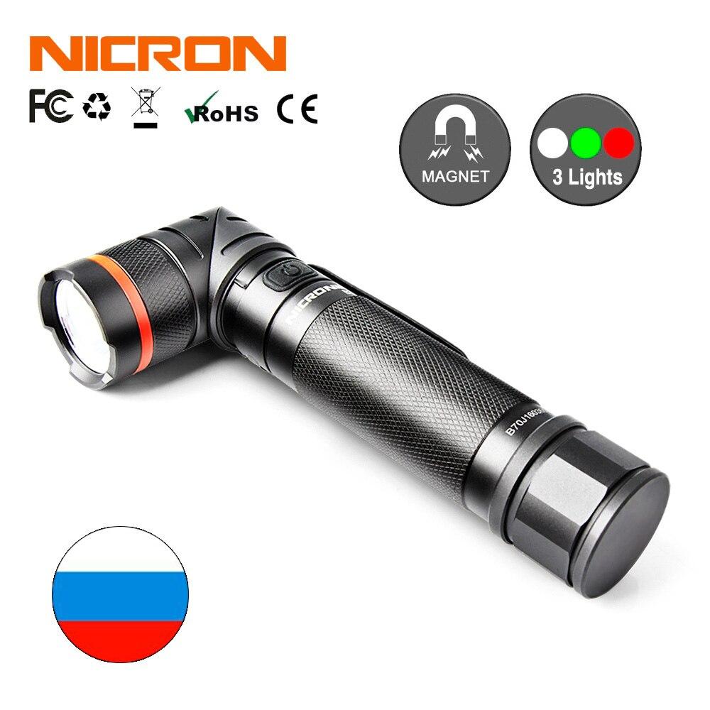 最好的交易 ) }}NICRON LED Flashlight 18650 5W Ultra