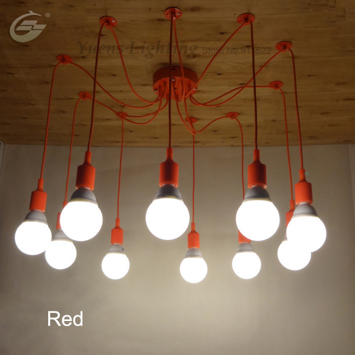 ФОТО Northern Individuality Creative Edison Industrial E27 spider lamp Coffee House Pendant Lights Free shipping YSL1823