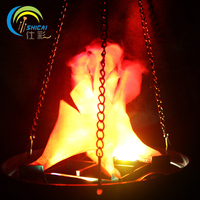 Hanging type Simulation flame light glow bar house atmosphere props Halloween decor store shop layout electronic brazier lamp