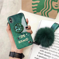 Silicone Cases For iPhone 8 Plus 6 6s 7 Plus Cover For Case iPhone X XS Max XR 6 6S 7 8 Shockproof Bumper Rhinestone Holder Tide 2