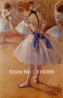 100% à la main Peinture À L'huile Reproduction sur Toile de Lin, la-danse-studio par edgar degas, livraison DHL Expédition RAPIDE, Musée qualité