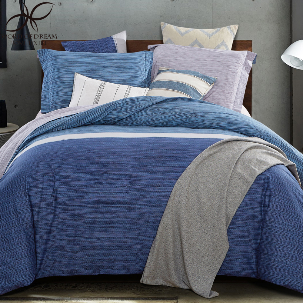Word Of Dream Plaid Duvet Cover Sets Home Blue White