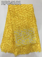 Hot High Quality African Guipure Cord Lace Fabric Water Soluble African Lace Fabric For Women Dress