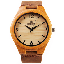2016 El Más Nuevo de madera de bambú japonés miyota 2035 movimiento relojes para hombres y mujeres relojes de pulsera de cuero genuino mejores regalos