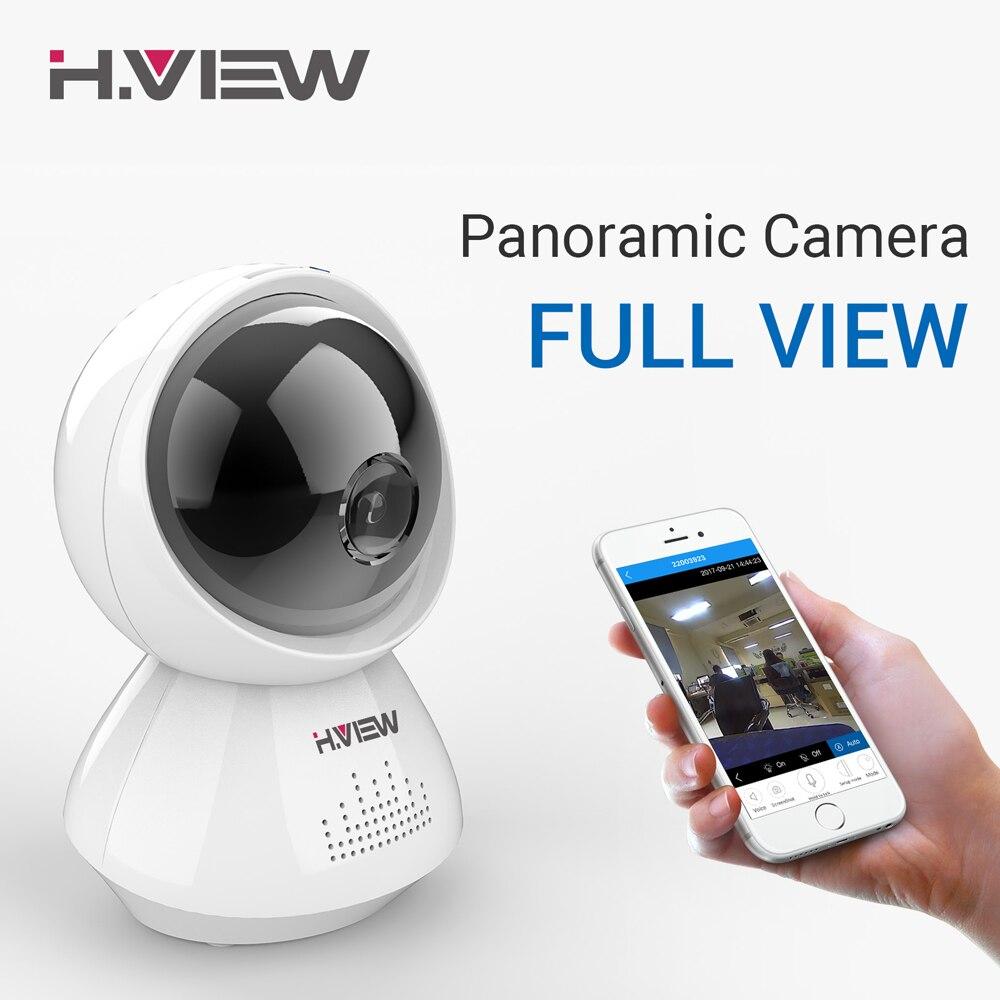 H.VIEW 1080P Panoramic Camera 180 CCTV Camera 720P IP Camera Wifi Camara IP Fisheye Video Surveillance Cameras