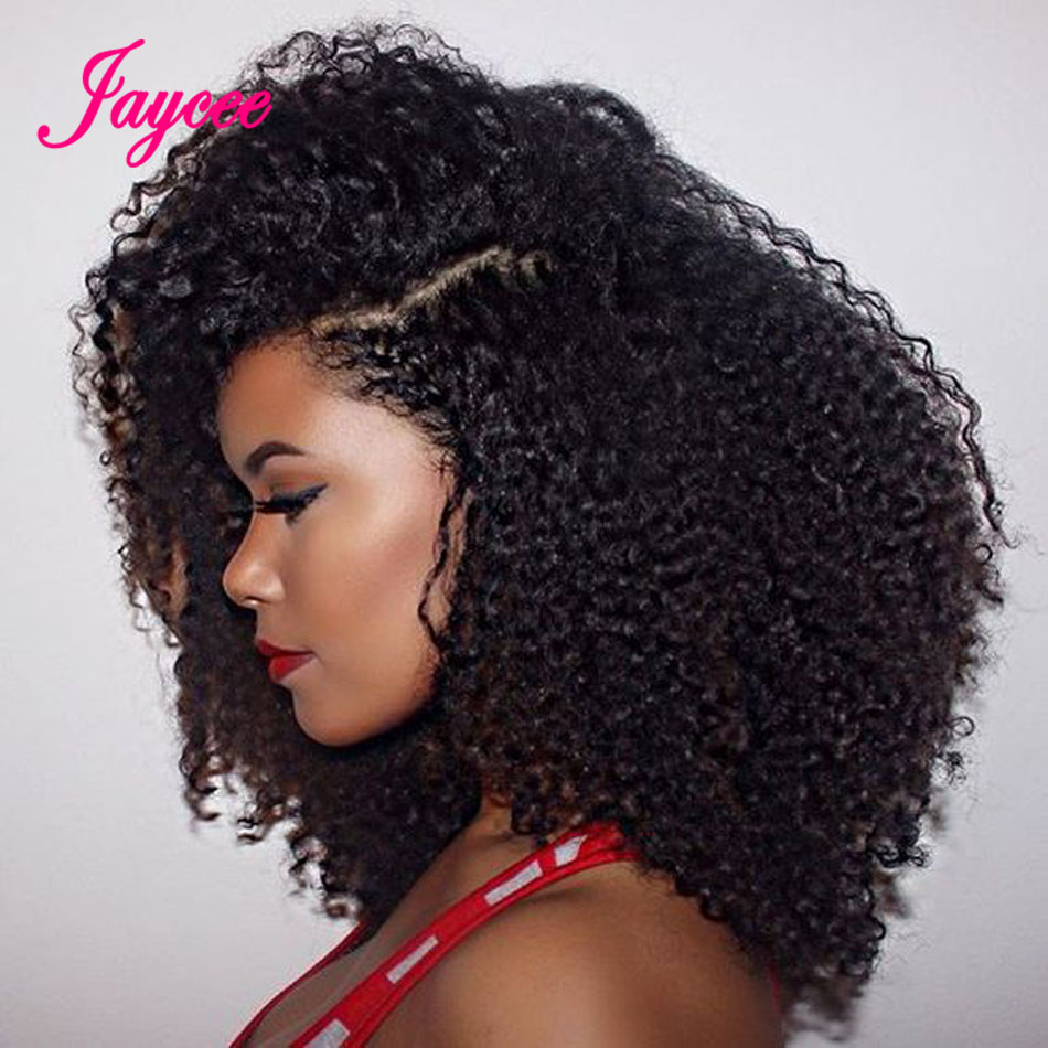 Jaycee Brazilian Kinky Curly Hair 4 Bundles Brazilian Hair Curly Weave Non-Remy Human Hair Extensions Bundles 8-24 Inches