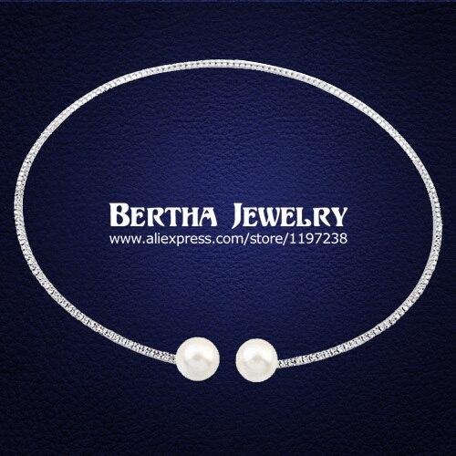 Nuevo Estilo de Perlas de Doble Rhinestone Lleno Gargantilla Collares Collar Para Las Mujeres de Cristal Austriaco Joyería Colar Colares Femininos 2016