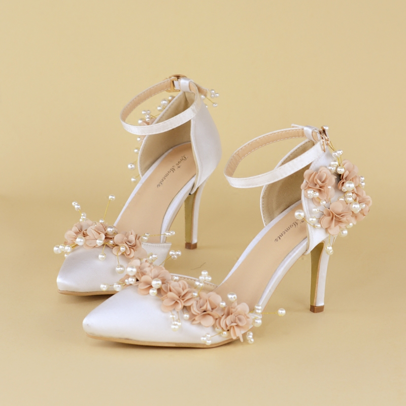 ФОТО New Arrival  Summer bride wedding shoes 8cm pointed toe ankle strap Fashion wedding shoes Big size 34-42 Sandals fashion shoes