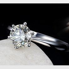 Solid  Crystal Ring Women Classic Wedding Jewelry Rings For Engagement Woman Fashion Jewelry Accessory