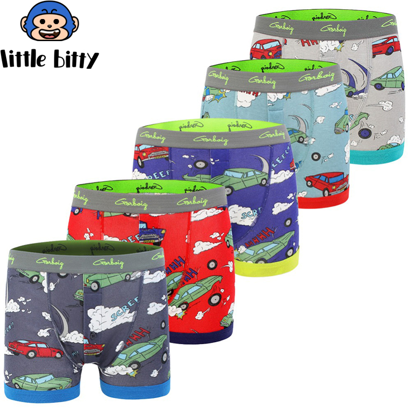 5 Pcs/lot baby Boys Underwear Kids Panties Cartoon Taxi Car Child Underpant Cotton Shorts For Children Brief Underwear