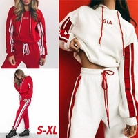 ZOGAA 2019 New Women Tracksuit 2 Piece Set Casual Sportswear Hooded Sweatshirt Tops and Pants Two Piece Sets Women Outfits 2018