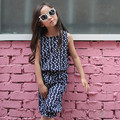 2017 summer floral printed tops kids suits for girls 2 pcs sets sleeveless vest and pants girls clothes sets children clothing