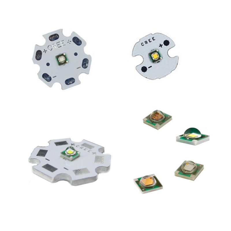 1-50pcs 3W Cree LED XPE XP-E R3 3535 SMD  High Power LED Chip White Red Green Blue Yellow UV Pink Color With 16mm 20mm LED PCB