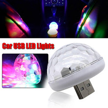 1pc Car Atmosphere Light USB Mini LED Colorful 5V Replacement Accessories(China)