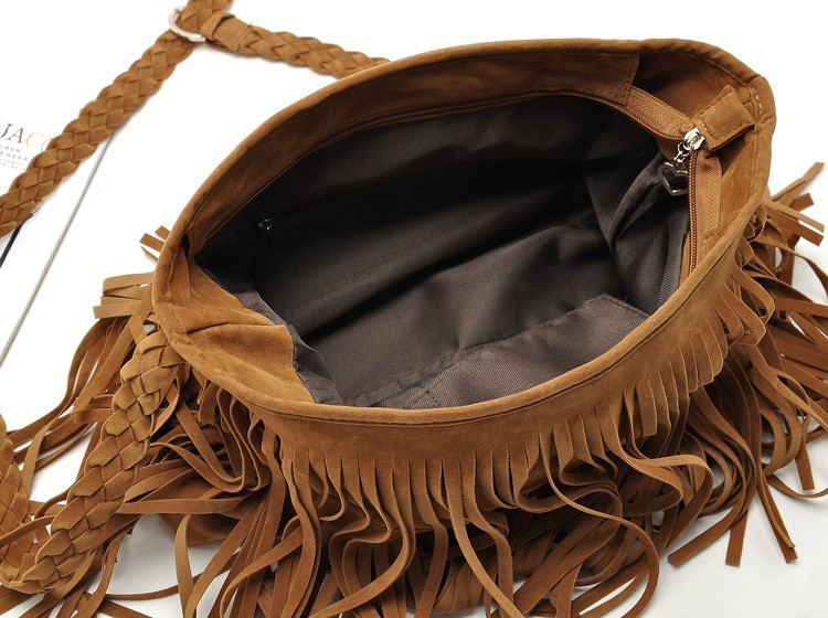 Fashion PU Leather Handbag Tassel bags Vintage Bucket Women Shoulder bag Small Ladies messenger bags Tote bolsa 2015 BH249 (9)