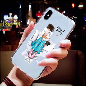 Image 5 - Cute Baby Child Mother TPU Phone Case For iPhone X XS Max XR 11 Pro 7 8 6 6S Plus 5 5S SE 2020 Queen Girl Silicon Clear Cover