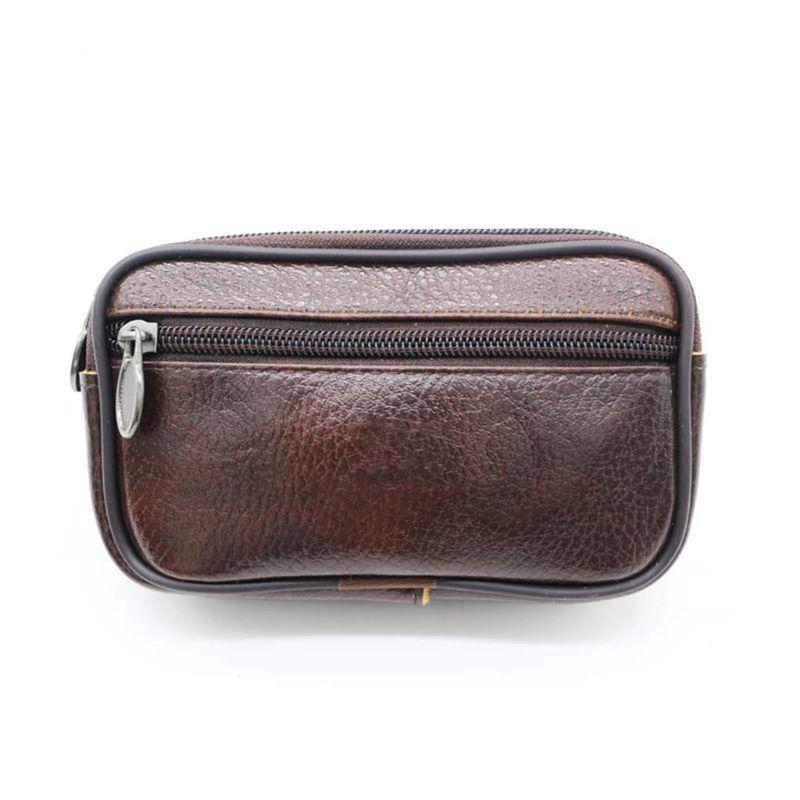 PU Leather Multi-function Waist Bag Money Blet Bag Mens Fanny Pack