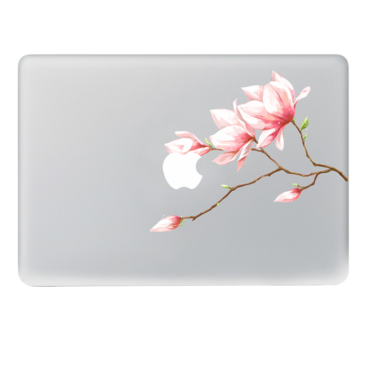 Pink Bud Flower Vinyl Decal Notebook Sticker On Laptop Sticker For DIY Macbook Pro Air 11 13 15 Inch Laptop Skin