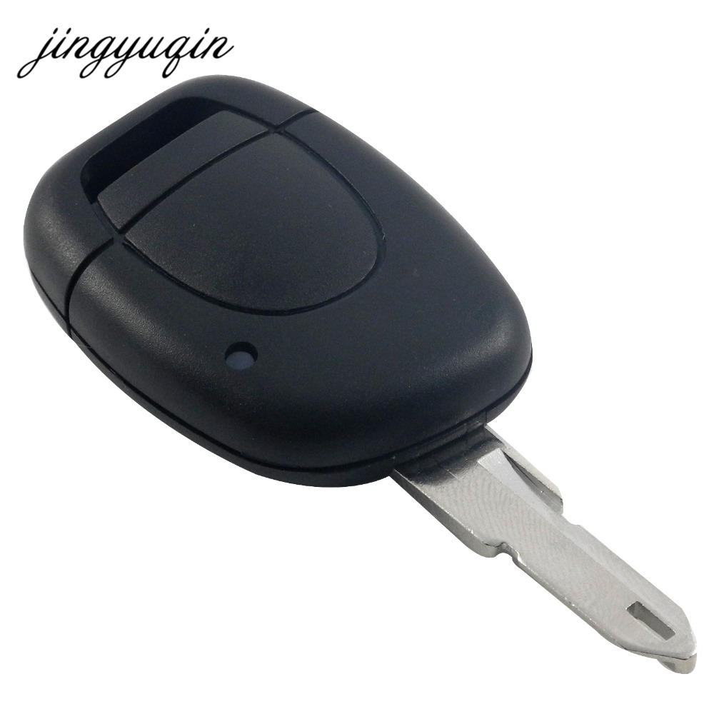 Jingyuqin New 1 Button Uncut Blade Remote Car Key Shell For Renault Twingo Clio Kangoo Master NO Chip Keyless Entry Fob Case