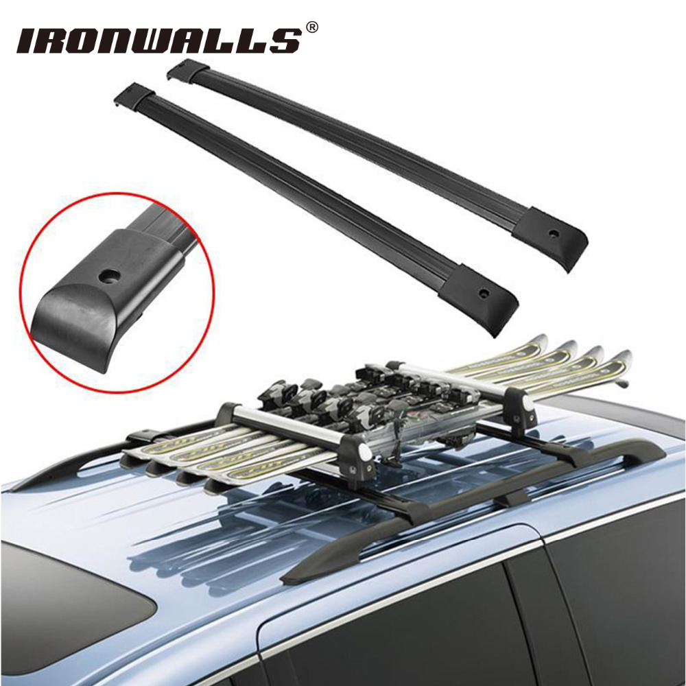 Ironwalls 2x <font><b>Car</b></font> Black Roof Top Cross Bars Crossbars Rail Rack Carrier 150LBS Aircraft Aluminum Bike For Honda Odyssey 2005-2010